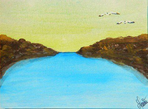 Painting: El Abrazo de la cala