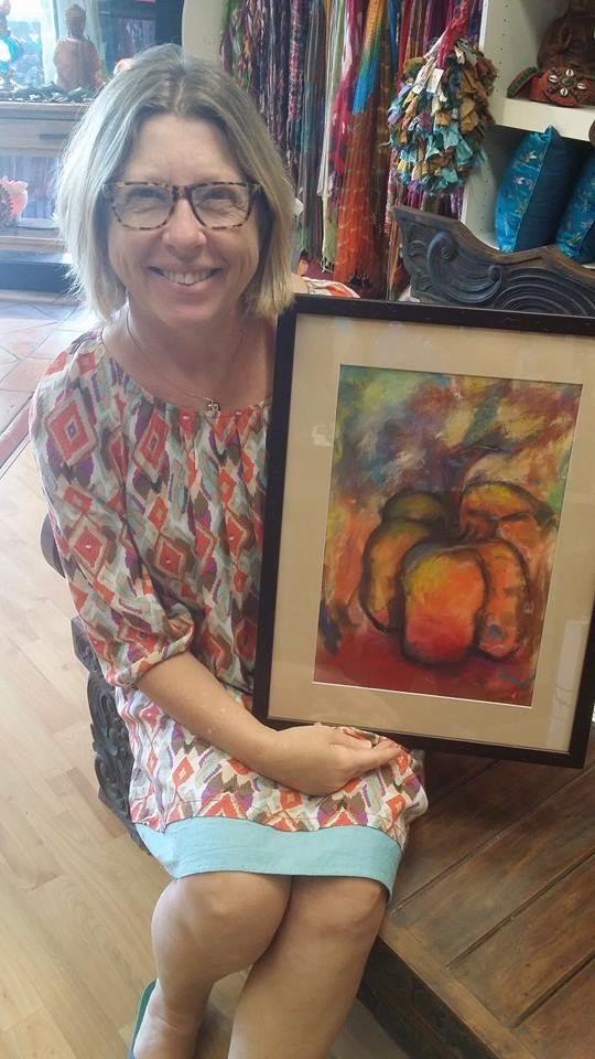 Deborah Glover: 'Psychedelic Kitchen - Pumpkin'